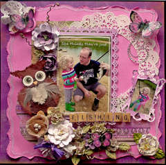 Just Fishing **SCRAPS OF DARKNESS** November Kit-Purple Haze