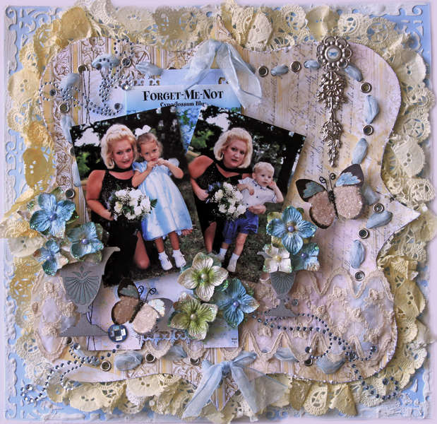 Forget Me Not **SCRAPS OF ELEGANCE** March Kit Butterfly Dreams