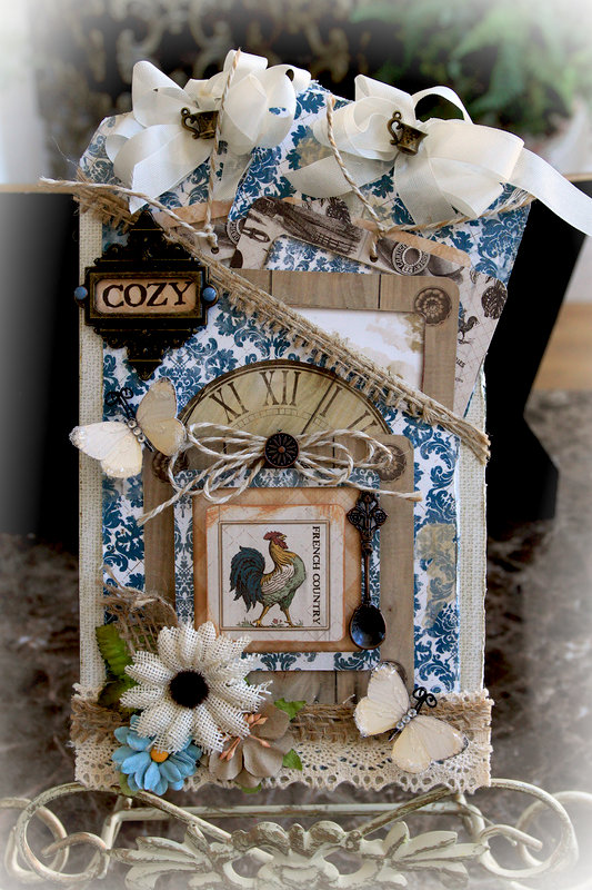 French Country Pocket Journal * Scraps Of Elegance* November Kit~ Tracey's Country Kitchen