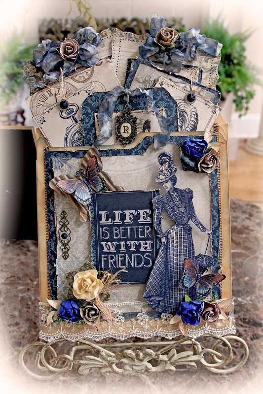 Friends Pocket Journal *Scraps Of Darkness* March Kit~Michelle's Mechanical Madness