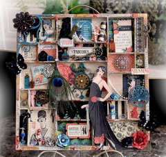 Graphic 45 Couture Altered Printer Tray *Scraps Of Darkness* January Kit~Style & Sophistication