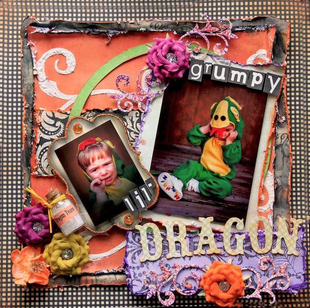 Grumpy Lil' Dragon **SCRAPS OF DARKNESS** October Kit-All Hallows' Eve