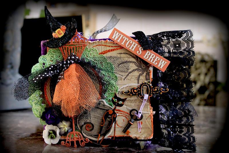 Halloween Mini Album **SCRAPS OF DARKNESS** October Kit-Morticia's Wish