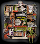 Halloween Altered Printer Tray **SCRAPS OF DARKNESS** October Kit-Morticia's Wish