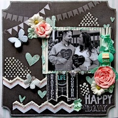 Happy Day **Scraps Of Darkness** September Kit~The Black Album