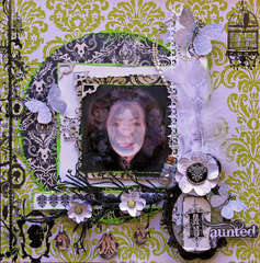 Haunted Twisted Sketches #128 Twist White **SCRAPS OF DARKNESS** October Kit