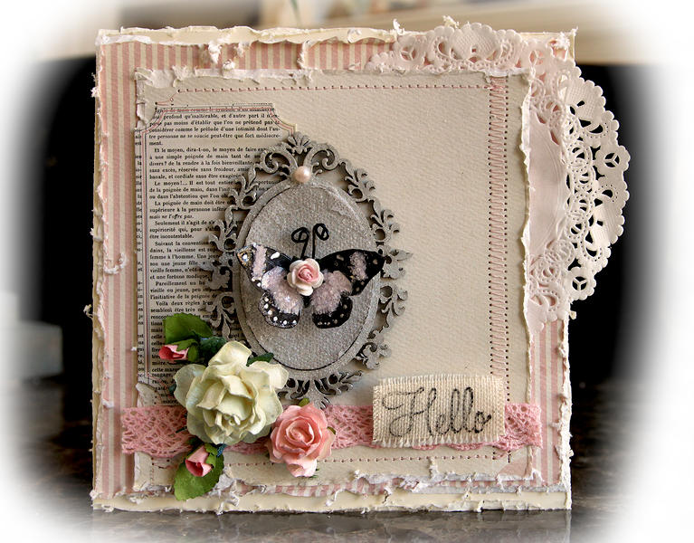 Hello Card **SCRAPS OF ELEGANCE** February Kit -Love Song