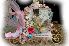 Mad Tea Party Mini Album *Scraps Of Elegance* *Reneabouquets Etsy Shop*
