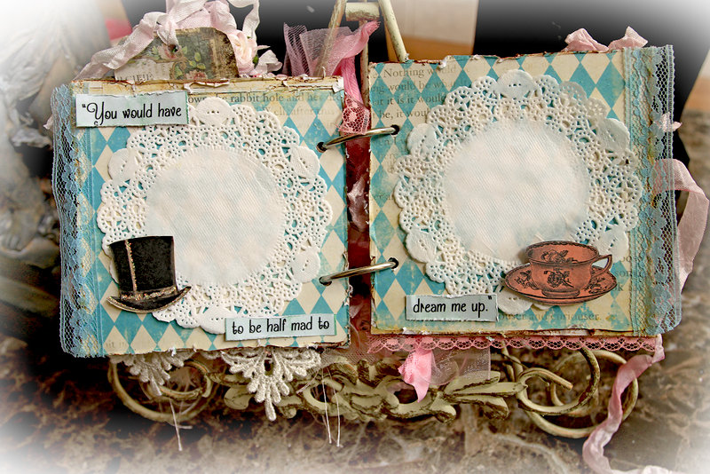 Mad Tea Party Mini Album *Scraps Of Elegance* *Reneabouquets Etsy Shop*