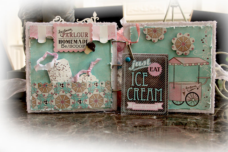 Ice Cream Parlor Mini Album **Scraps of Elegance** August Kit~Sweet Summer Nights