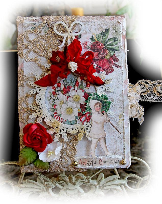 Vintage Christmas Book Box & Tag Album *Blue Fern Studios*