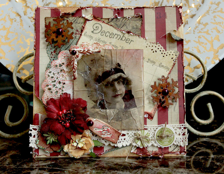 JOY Christmas Card **SCRAPS OF ELEGANCE** December Kit-Winter Wishes