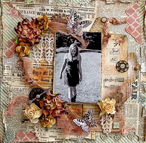 Just Be **Scraps Of Elegance** April Kit-Possibility