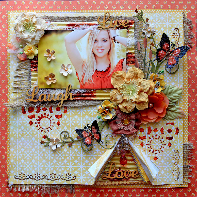 Live, Laugh, Love **Scraps Of Darkness** July Kit~Gypsy Summer