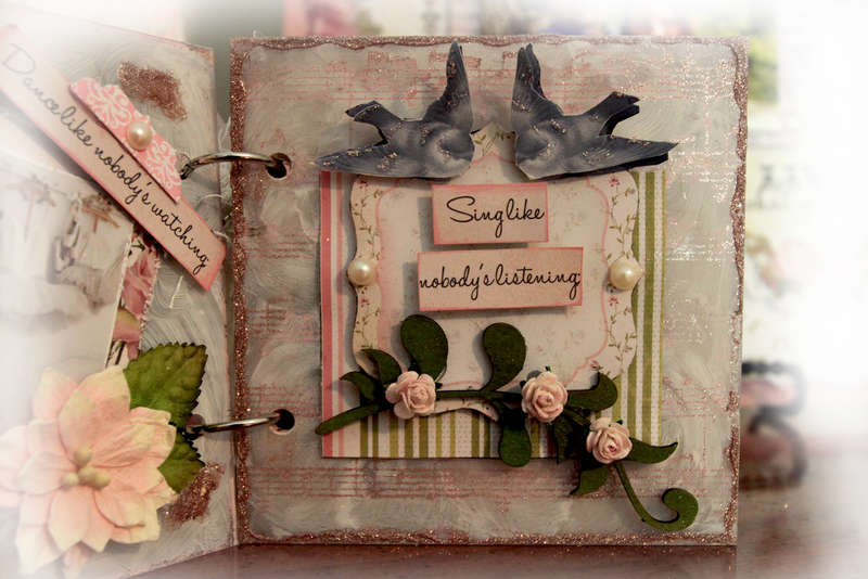 Live Acrylic Mini Album Page 2 **SCRAPS OF ELEGANCE** August Kit-Summer Haven