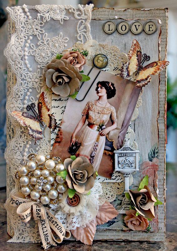 Love Letters Altered Book Box *Scraps Of Elegance* January Kit~Renea's Charm