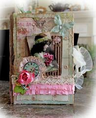 Altered Memory Keepsake Book Box **SCRAPS OF DARKNESS** **SCRAPS OF ELEGANCE**