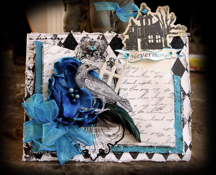 Nevermore Card **SCRAPS OF DARKNESS & ELEGANCE**  Taking On Technique Challenge