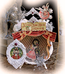 Nutcracker Sweet Assemblage Clock