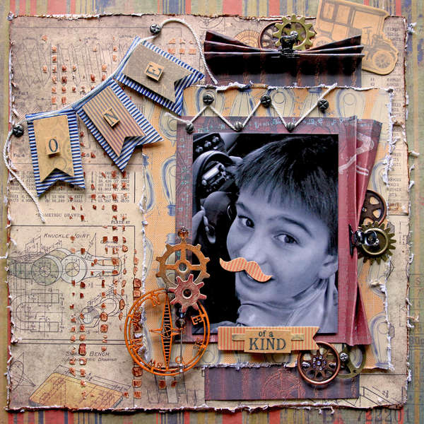 One Of A Kind **SCRAPS OF DARKNESS** September Kit-My Guy