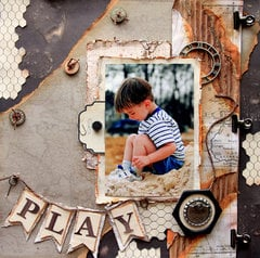 PLAY *Scraps Of Darkness* February Kit~Touch Of Grey