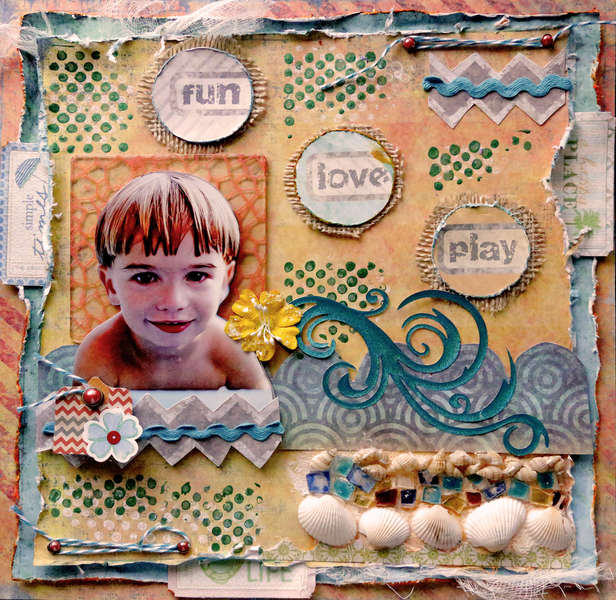 Play **SCRAPS OF DARKNESS** August Kit Jamaican Sunset
