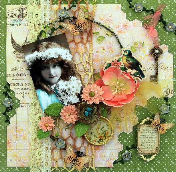 Sweet Robin **SCRAPS OF ELEGANCE** March Kit-Spring's Promise