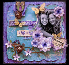 Scatter Sunshine **SCRAPS OF DARKNESS**  November Kit-Purple Haze