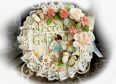 Secret Garden Mini Album Cover **SCRAPS OF ELEGANCE** March Kit-Spring's Promise