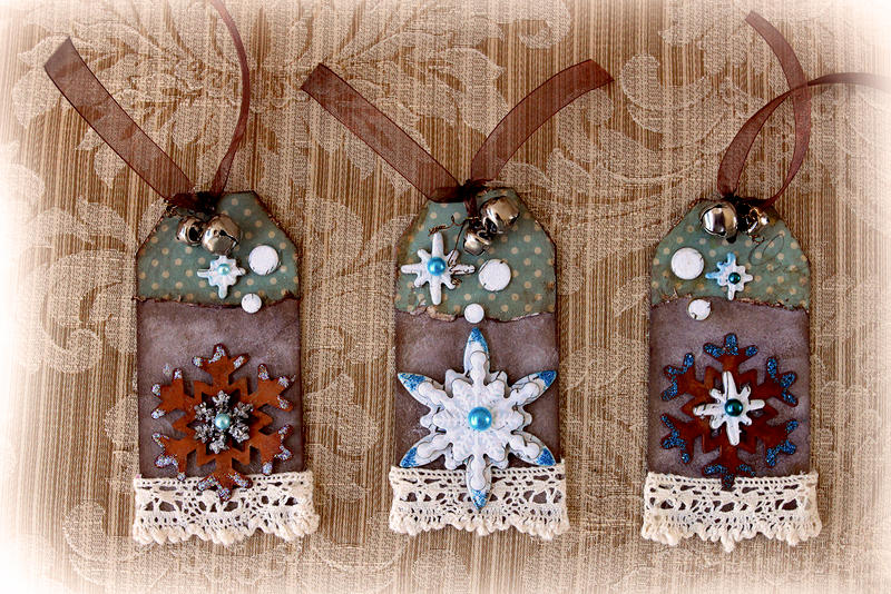 Snowflake Tag Set **SCRAPS OF ELEGANCE** December Kit-Winter Wishes