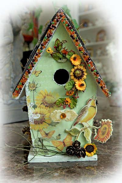 Summer Breeze Altered Bird House Front **SCRAPS OF DARKNESS** May Kit Summer Breeze