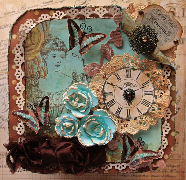 Sweet Memories Altered Memory Box Top View **SCRAPS OF DARKNESS**