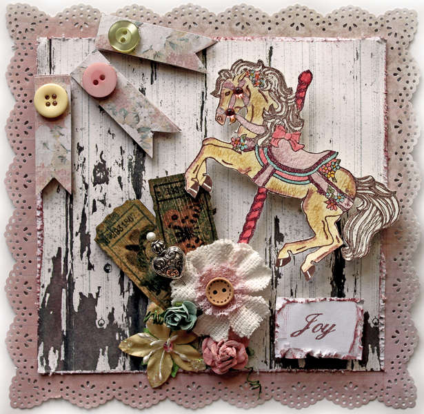 Joy Card *The Rubber Cafe* **SCRAPS OF ELEGANCE**