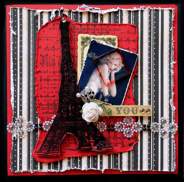 Paris Romance Card *The Rubber Cafe* **SCRAPS OF DARKNESS**