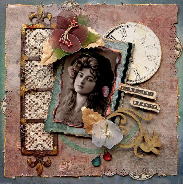 Timeless Beauty **SCRAPS OF ELEGANCE** August Kit-Summer Haven