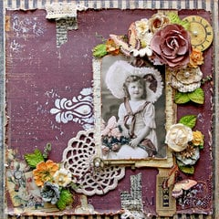 Vintage Time Traveler *Scraps Of Elegance* June Kit~Timeless