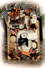 Witch's Brew File Folder Tag Album **Scraps Of Darkness** October Kit Gothic