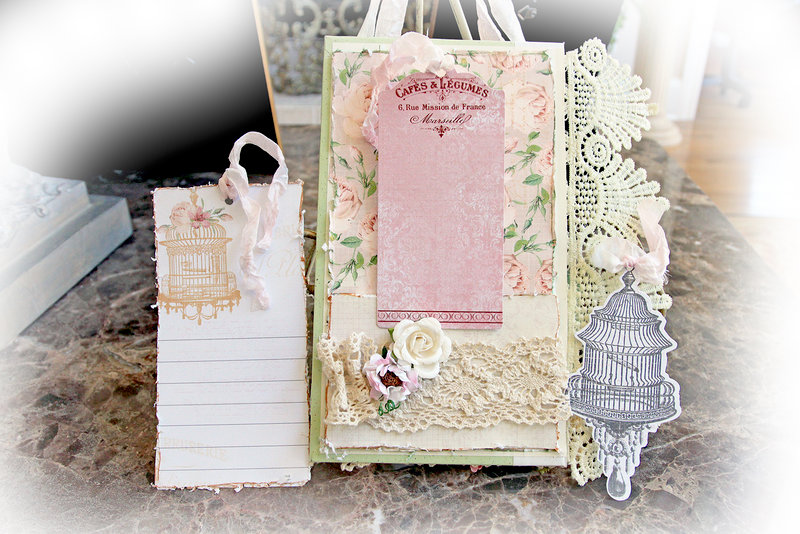 Altered Book Cover *Scraps Of Elegance* October Kit~Pretty Things