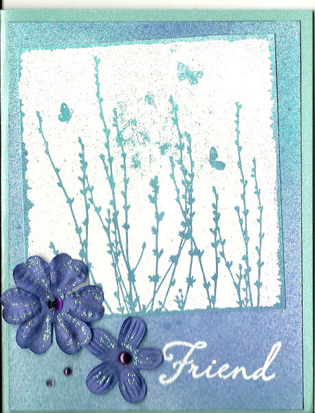 Archiver's Colorful Creations card (blue)