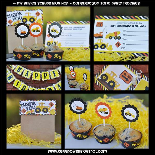 Construction Zone Party Printables
