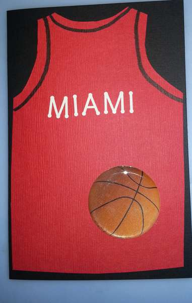 Miami Heet Fan birthday card