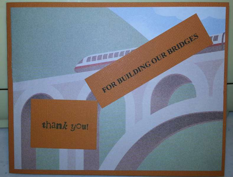 Bridges Thank you card