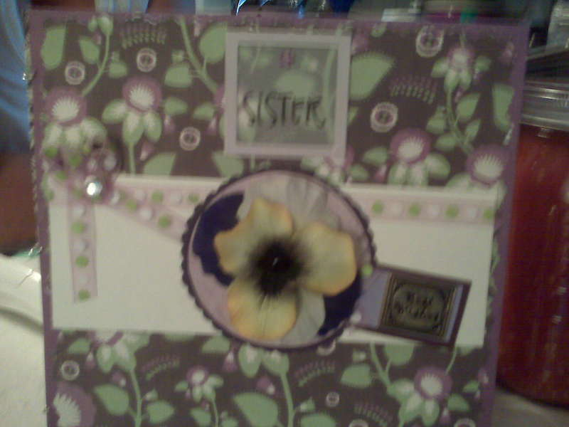 birthday card - sister