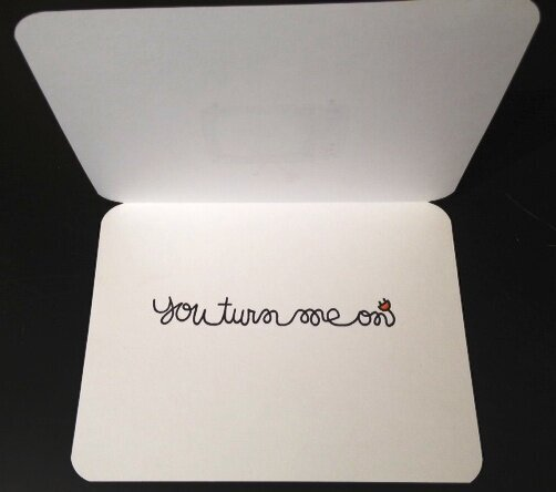 Turn me on card inside