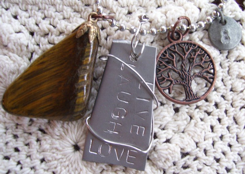 Silverware Charm Necklaces - Live Laugh Love