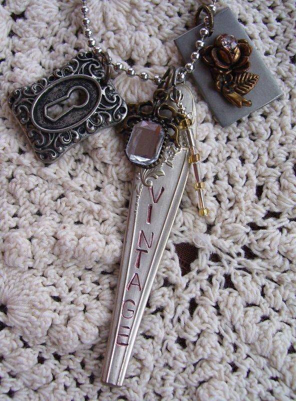 Silverware Charm Necklaces - Vintage