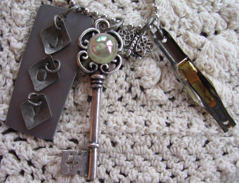 Silverware Charm Necklaces - Joy