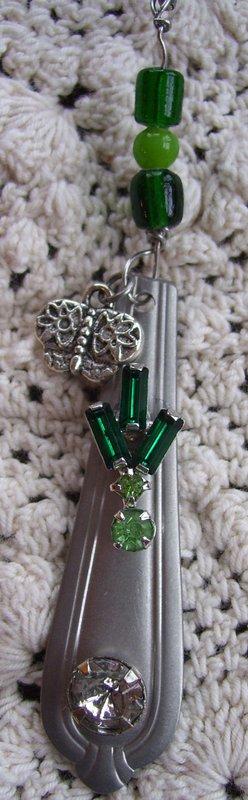 Silverware Charm Necklaces - Jade