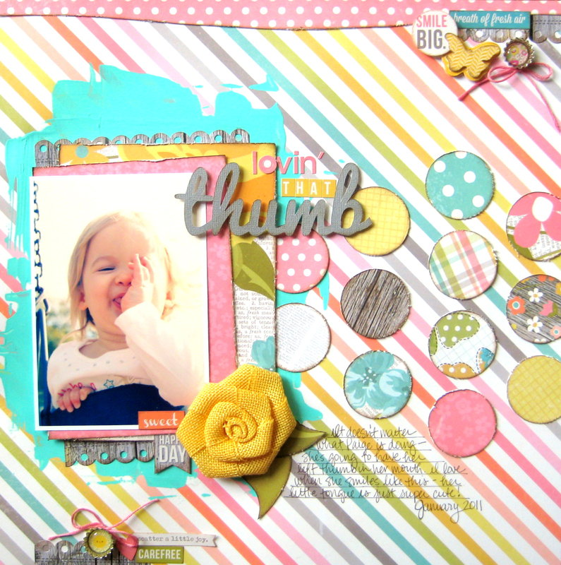 Lovin' That Thumb {My Creative Scrapbook}