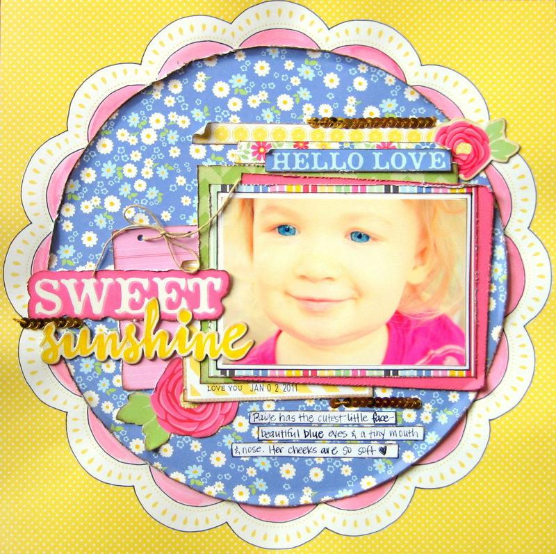 Sweet Sunshine {My Creative Scrapbook}